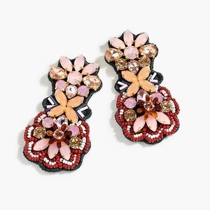 NWT J. Crew embroidered botanical earrings